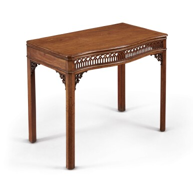 A GEORGE III MAHOGANY SIDE TABLE, CIRCA 1760