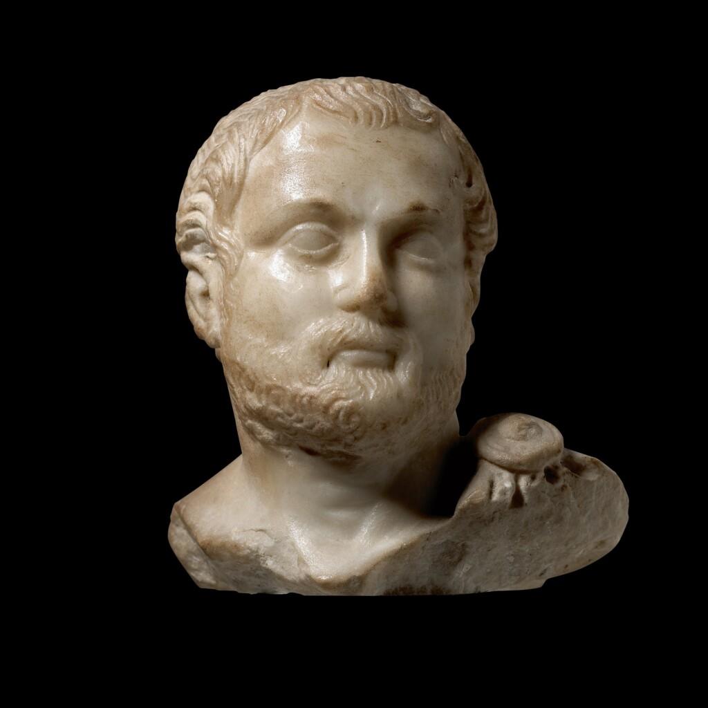 A ROMAN MARBLE PORTRAIT HEAD OF A MAN, HADRIANIC, CIRCA A.D. 117-138