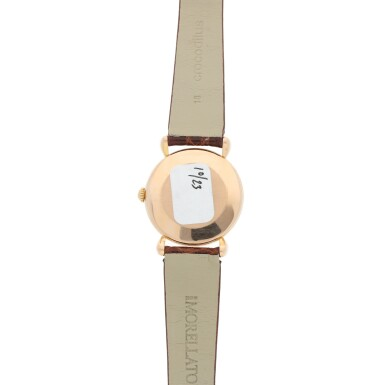 View 4. Thumbnail of Lot 291. REFERENCE 4299 A PINK GOLD WRISTWATCH, CIRCA 1955.