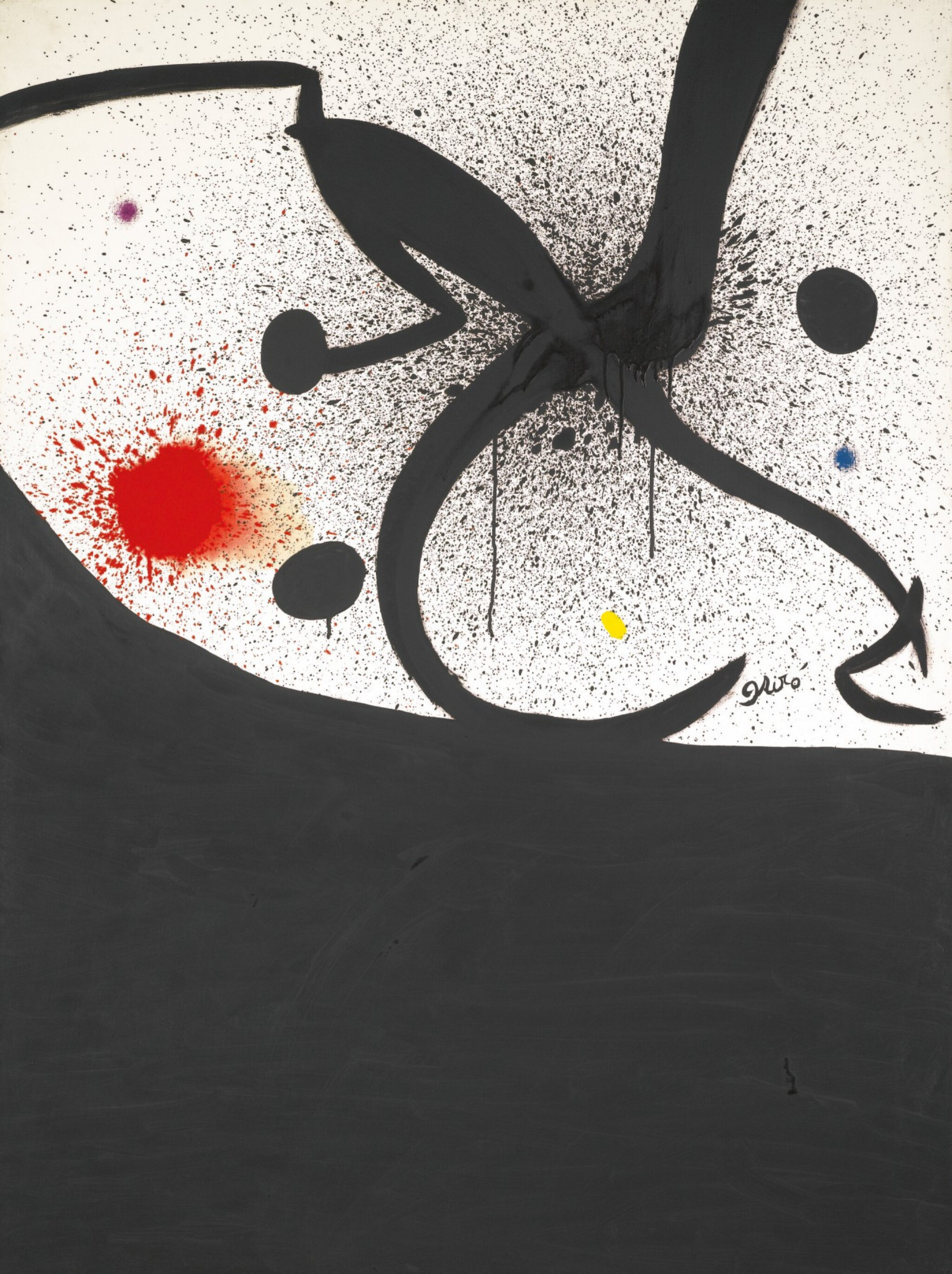 View full screen - View 1 of Lot 1029. JOAN MIRÓ | OISEAU, INSECTE, CONSTELLATION .