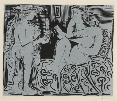 View 1. Thumbnail of Lot 62.  PABLO PICASSO | DEUX FEMMES AVEC UN VASE À FLEURS (B. 915; BA. 1239).