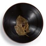 A SUPERB JIZHOU BLACK-GLAZED 'LEAF' BOWL SOUTHERN SONG DYNASTY | 南宋 吉州窰黑釉木葉天目茶盞