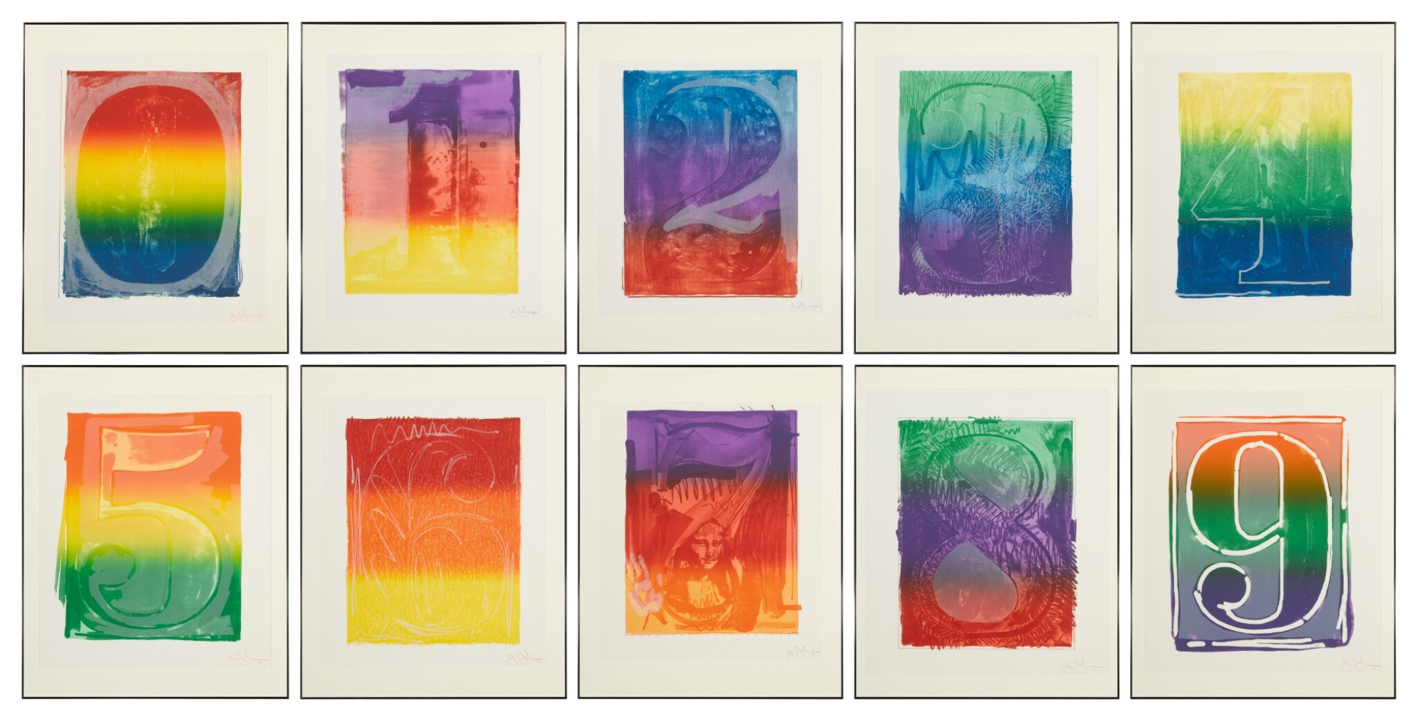 View full screen - View 1 of Lot 5. Color Numeral Series (ULAE 59-68) .