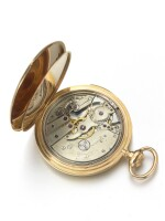 TIFFANY & CO. | A PINK GOLD OPEN FACED MINUTE REPEATING WATCH