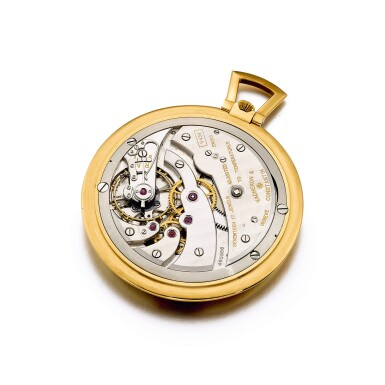 View 3. Thumbnail of Lot 2185. Vacheron Constantin, A unique, highly important and extremely attractive yellow gold open face watch with enamel miniature, painted by Helen May Mercier, Made in 1948   江詩丹頓   獨一無二、非常重要及優雅黃金懷錶,配 Helen May Mercier 繪製的微繪琺瑯,1948 年製.