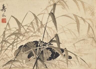View 2. Thumbnail of Lot 2527. Bian Shoumin 1684-1752 邊壽民   Geese 蘆雁.