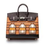 Limited Edition Birkin Faubourg 20cm in Madame, Matte Crocodile, Sombrero, Epsom and Swift Leather with Palladium Hardware, 2020