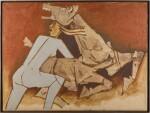 MAQBOOL FIDA HUSAIN | UNTITLED (TERRACOTTA HORSE)