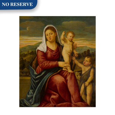 View 1. Thumbnail of Lot 11. Madonna and child with Saint John the Baptist.