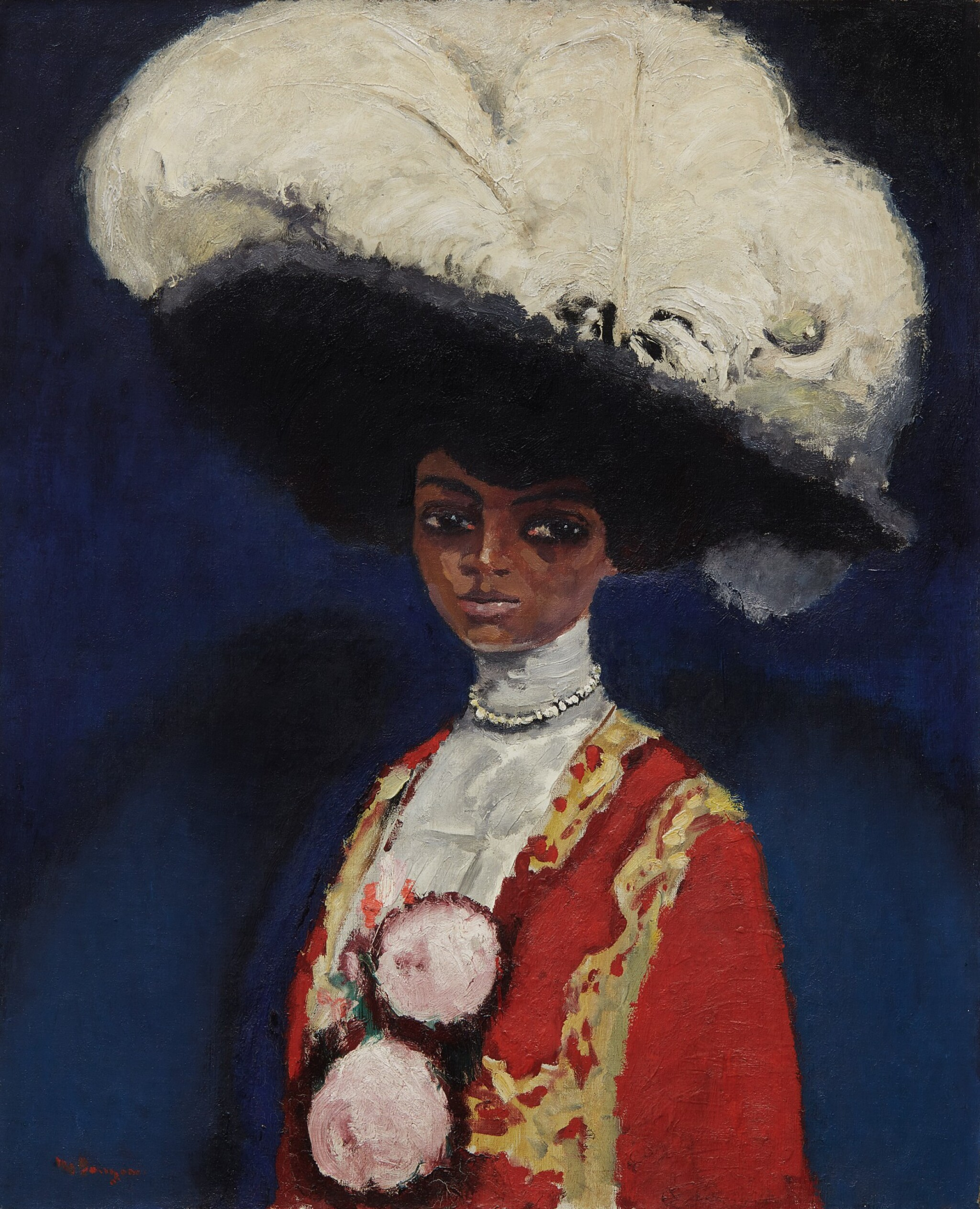 View full screen - View 1 of Lot 130. KEES VAN DONGEN | PLUMES BLANCHES .