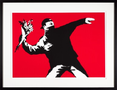 View 2. Thumbnail of Lot 1. BANKSY | LOVE IS IN THE AIR.