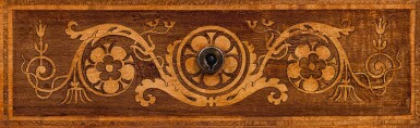 View 7. Thumbnail of Lot 201. A REGENCY SATINWOOD, MAHOGANY AND MARQUETRY LIBRARY DRUM TABLE, CIRCA 1815, ATTRIBUTED TO GEORGE BULLOCK.