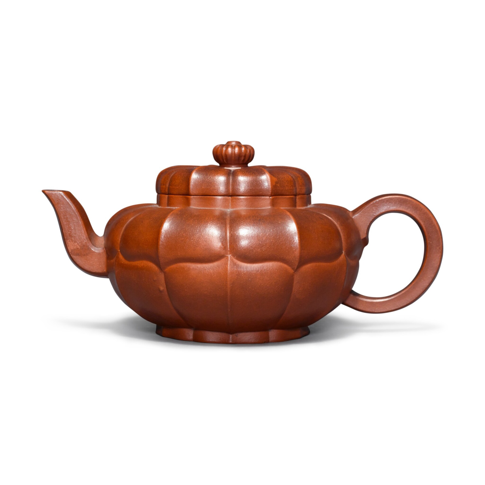 View full screen - View 1 of Lot 23. A Yixing teapot and cover, Qing dynasty.