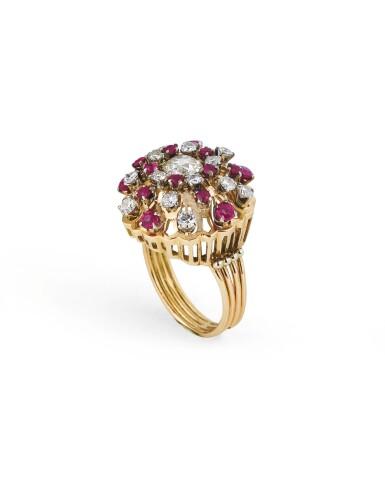 Ruby and diamond parure [Parure rubis et diamants], 1940s [vers 1940]