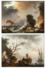 Fishermen at Sunrise;  A Storm