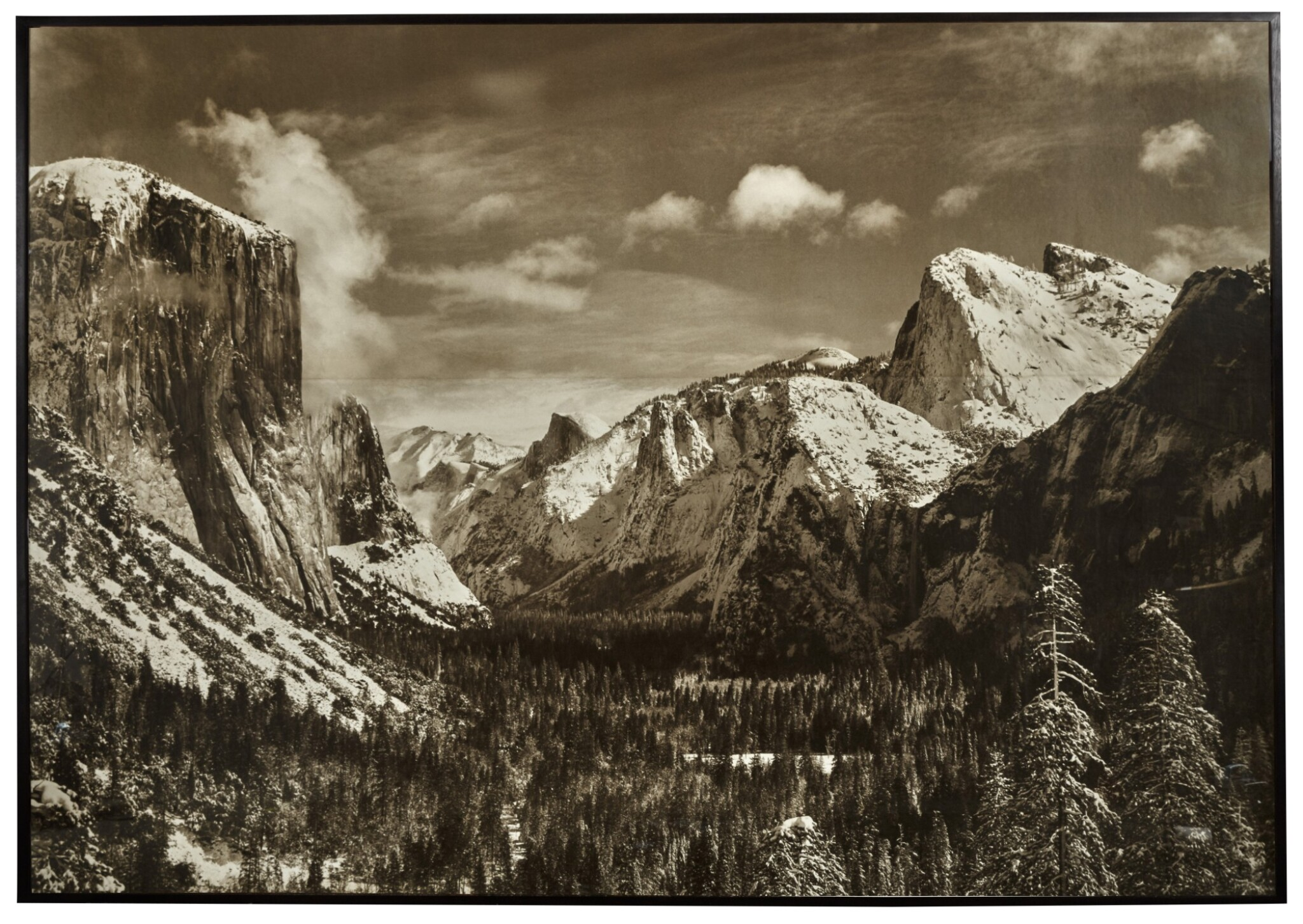 View 1 of Lot 48. Yosemite Valley From Inspiration Point, Winter, Yosemite National Park.
