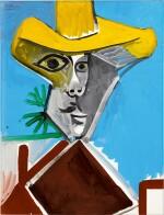 Pablo Picasso 巴布羅・畢加索 | Buste d'homme 男子半身像