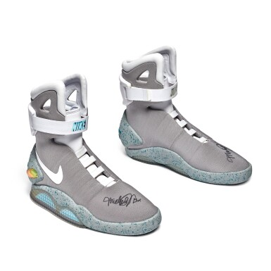 View 6. Thumbnail of Lot 1. Nike MAG 'Back to the Future' | 2011 | Dual Signed by Michael J. Fox.