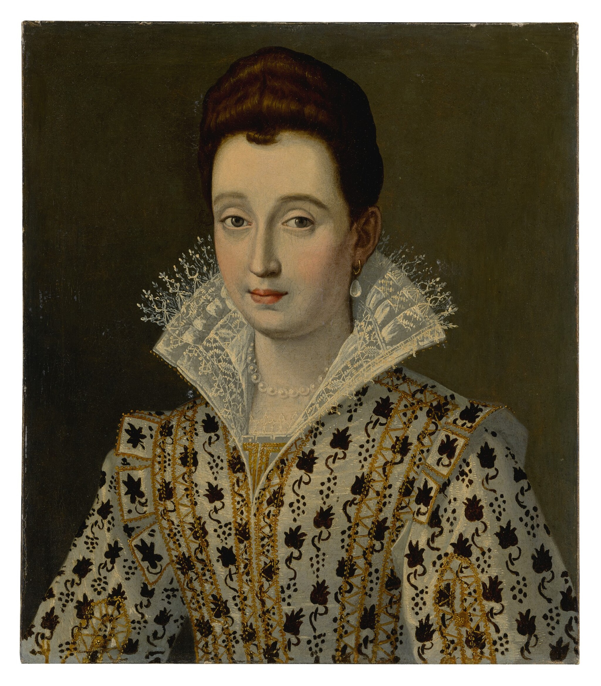 View 1 of Lot 506. Portrait of a woman, bust-length, in an elaborate costume.