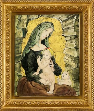 View 1. Thumbnail of Lot 1037. Léonard Tsuguharu Foujita 藤田嗣治 | Maternité 聖母子像.
