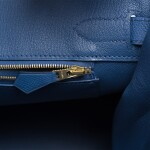 Hermès Bleu Brighton Birkin 30cm of Epsom Leather with Gold Hardware
