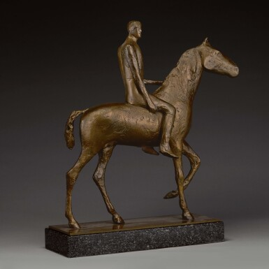 View 2. Thumbnail of Lot 701. DAME ELISABETH FRINK, R.A. | HORSE AND RIDER.