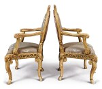 A PAIR OF ITALIAN NEOCLASSICAL GILTWOOD ARMCHAIRS, ROME, LATE 18TH CENTURY
