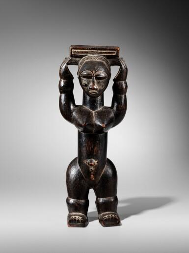 View 1. Thumbnail of Lot 100. Statue, Gwa / Attié, Côte d'Ivoire   Gwa / Attie figure, Côte d'Ivoire.