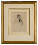MARY CASSATT | MARGOT LEANING AGAINST HER MOTHER (B. 175)