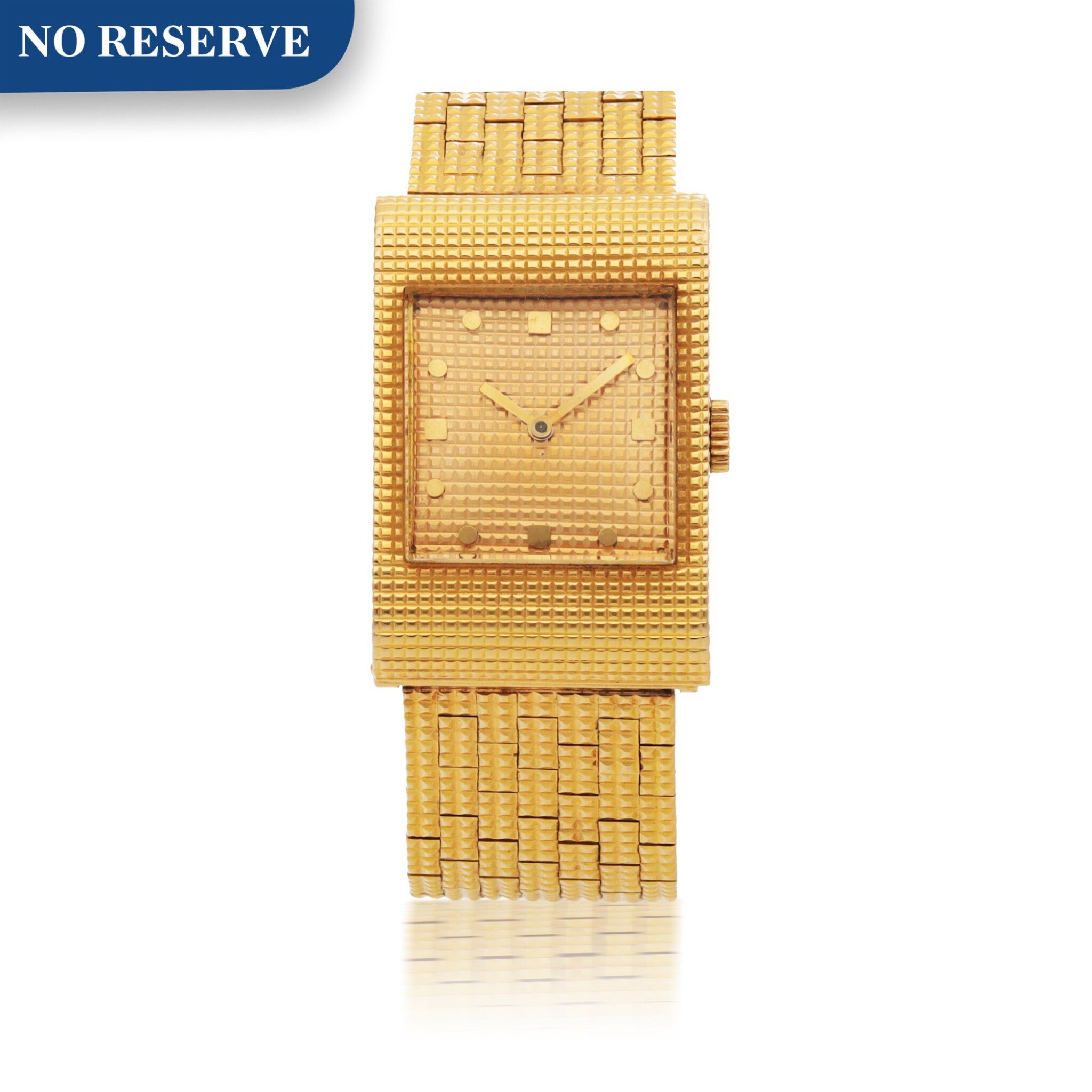 BOUCHERON | REF BT908-247 YELLOW GOLD WRISTWATCH WITH BRACELET CIRCA 1970