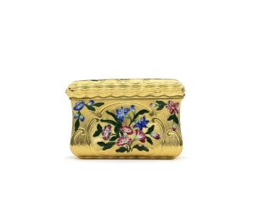 View 6. Thumbnail of Lot 13. A gold and enamel snuff box, James Bellis, London, circa 1765.