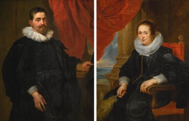 CIRCLE OF SIR PETER PAUL RUBENS | Portrait of a gentleman, probably Peter van Hecke; and Portrait of a lady, probably his wife, Clara Fourment