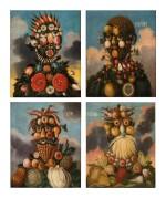 German School, circa 1800   Allegories of the Four Seasons