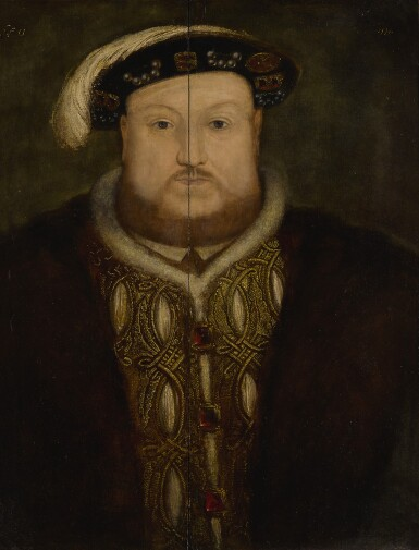 View 2. Thumbnail of Lot 2. Portrait of King Henry VIII, bust-length.