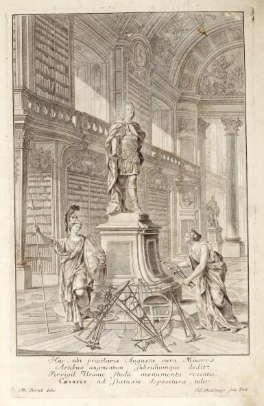 View 1. Thumbnail of Lot 218. Marinoni, De astronomica specula domestica, Vienna, 1745, contemporary vellum.