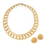 GOLD NECKLACE, BUCCELLATI, AND PAIR OF EARCLIPS