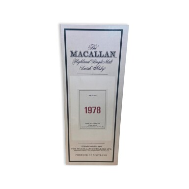 View 4. Thumbnail of Lot 7. The Macallan Fine & Rare 39 Year Old 59.2 abv 1978 (1 BT75).