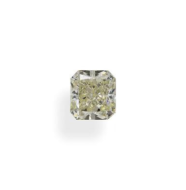 A 1.33 Carat Cut-Cornered Rectangular Modified Brilliant-Cut Diamond, W-X Color, VS2 Clarity