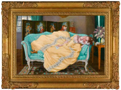 View 2. Thumbnail of Lot 59. Sleeping Lady in a Room in 18th Century Dress.