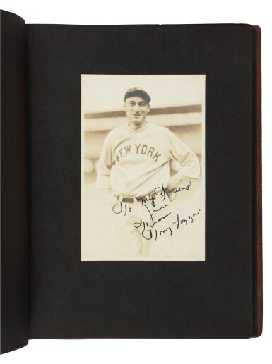 View 6. Thumbnail of Lot 145. The New York Yankees | Photo album of the 1931 New York Yankees, signed by 19 members of the team, including 10 future Hall of Famers, made for Yankees coach Jimmy Burke.