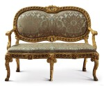 AN ITALIAN NEOCLASSICAL GILTWOOD SOFA, ROME, LATE 18TH CENTURY