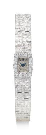 PIAGET | REFERENCE 1308 A 6, A WHITE GOLD AND DIAMOND-SET BRACELET WATCH, CIRCA 1960