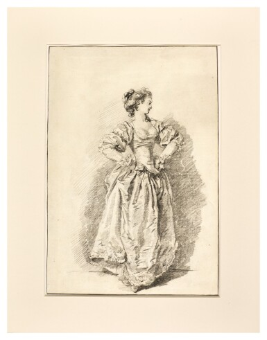A pause during a dance: a Young woman with her hands on her hips