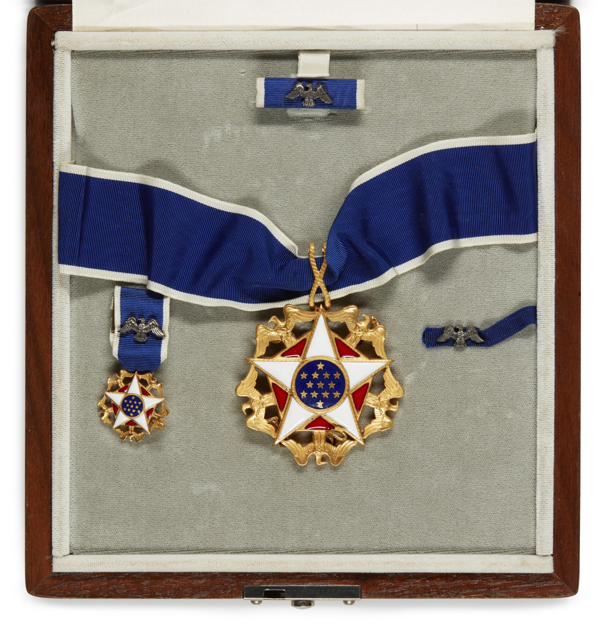 View full screen - View 1 of Lot 20. THE PRESIDENTIAL MEDAL OF FREEDOM, AWARDED BY PRESIDENT GEORGE H.W. BUSH, 1991.