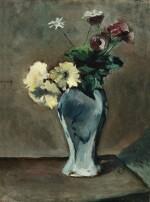 Anémones et anthémis dans un vase