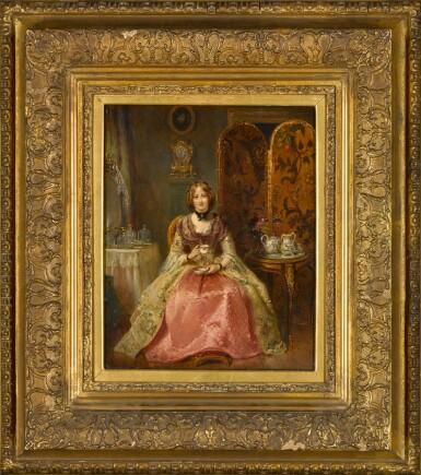 View 2. Thumbnail of Lot 103. Portrait of the Lady Dorothy Nevill in Her Boudoir.