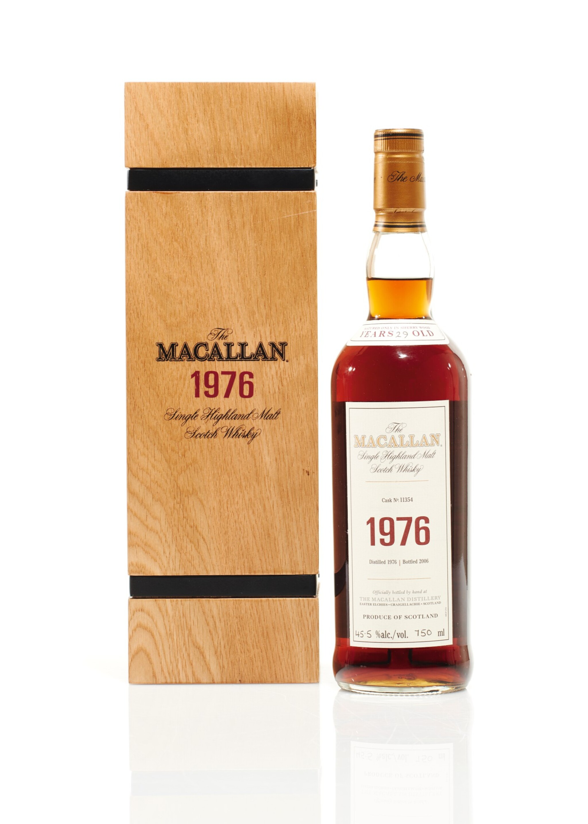 View full screen - View 1 of Lot 5. The Macallan Fine & Rare 29 Year Old 45.5 abv 1976 (1 BT75cl).