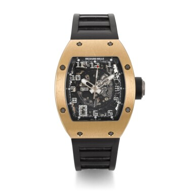 View 1. Thumbnail of Lot 327. RICHARD MILLE | RM010, PINK GOLD CURVED TONNEAU SEMI-SKELETONIZED AUTOMATIC CENTRE SECONDS WRISTWATCH WITH DATE, CIRCA 2012.