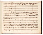 J. S. Bach. Manuscript full score of the Concerto in D minor for Cembalo, BWV 1052, first half of the C19th?