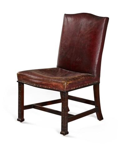 View 1. Thumbnail of Lot 55. A GEORGE III MAHOGANY SIDE CHAIR, CIRCA 1760.